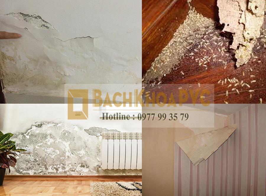 Chỉ cách chống ẩm mốc tường nhà bằng tấm PVC vân đá Marble