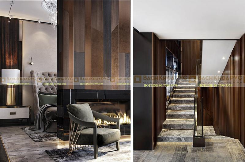 Chọn mặt gửi vàng, chọn nhựa giả gỗ ốp tường có ngay nội thất đẹp
