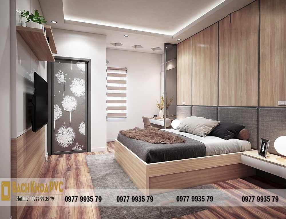 Mẫu tấm nhựa giả gỗ ốp tường nội thất phòng ngủ giá rẻ nhất TPHCM