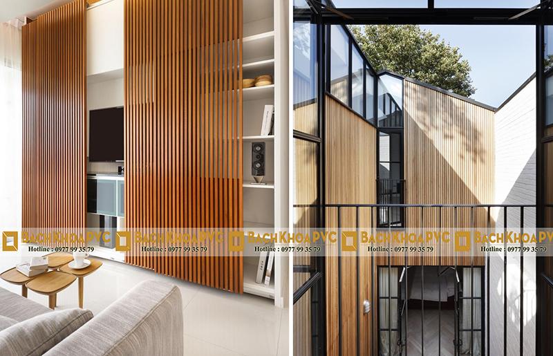Nhựa giả gỗ có tính ứng dụng cao phù hợp mọi không gian nội – ngoại thất