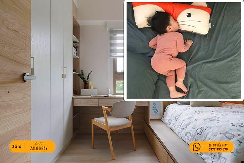 Tấm nhựa giả gỗ pvc khiến con bạn có giấc ngủ sâu, không dễ bị đánh thức với những tạp âm bên ngoài