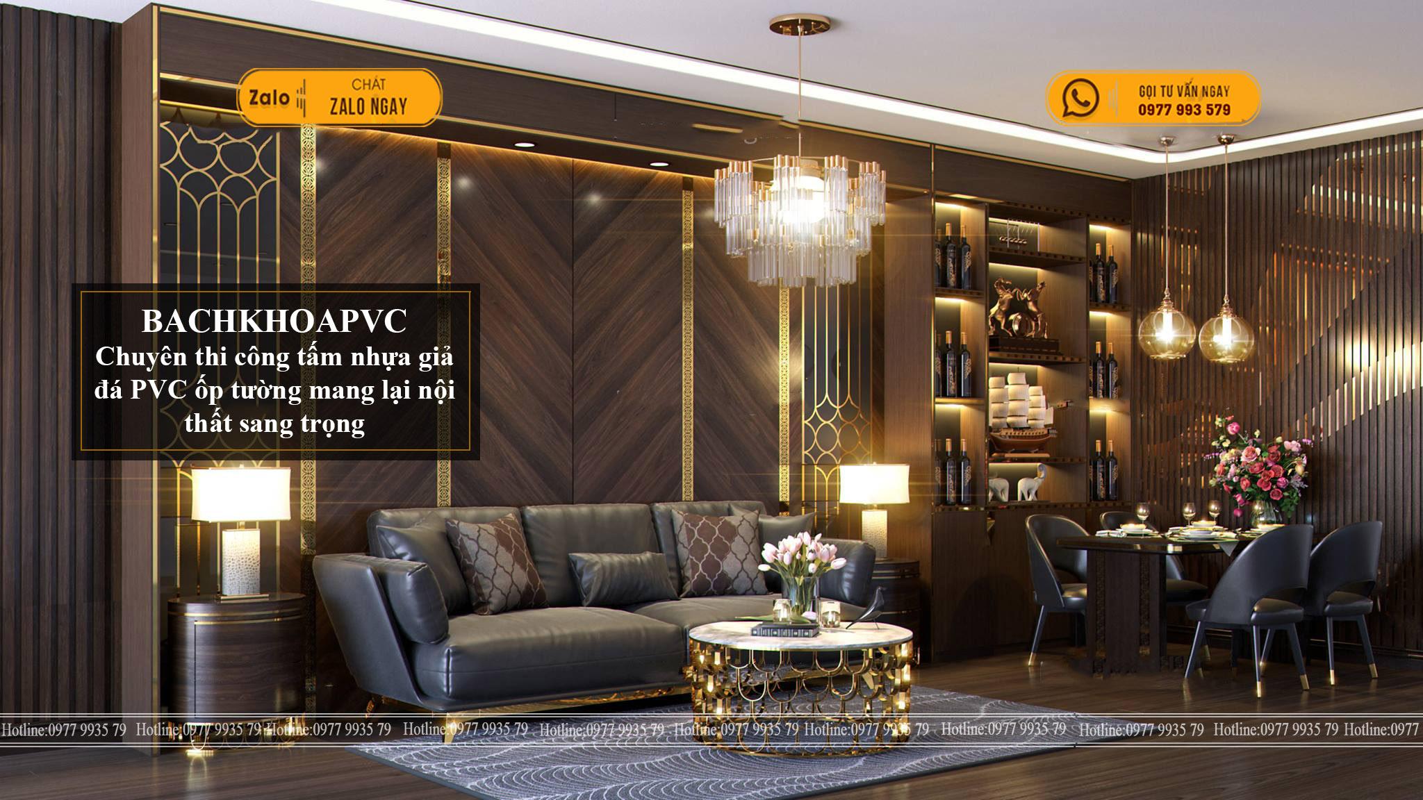 Tấm ốp tường giả gỗ - Bí kíp giúp nội thất sang và đẹp hơn