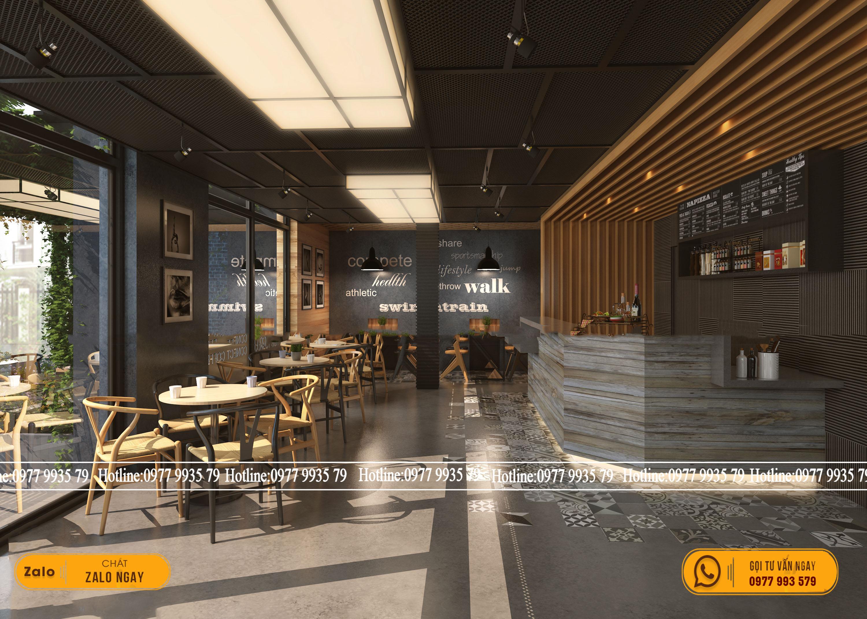 Tươi mới, mộc mạc với chất liệu nhựa giả gỗ trong thiết kế quán cafe phong cách Rustic